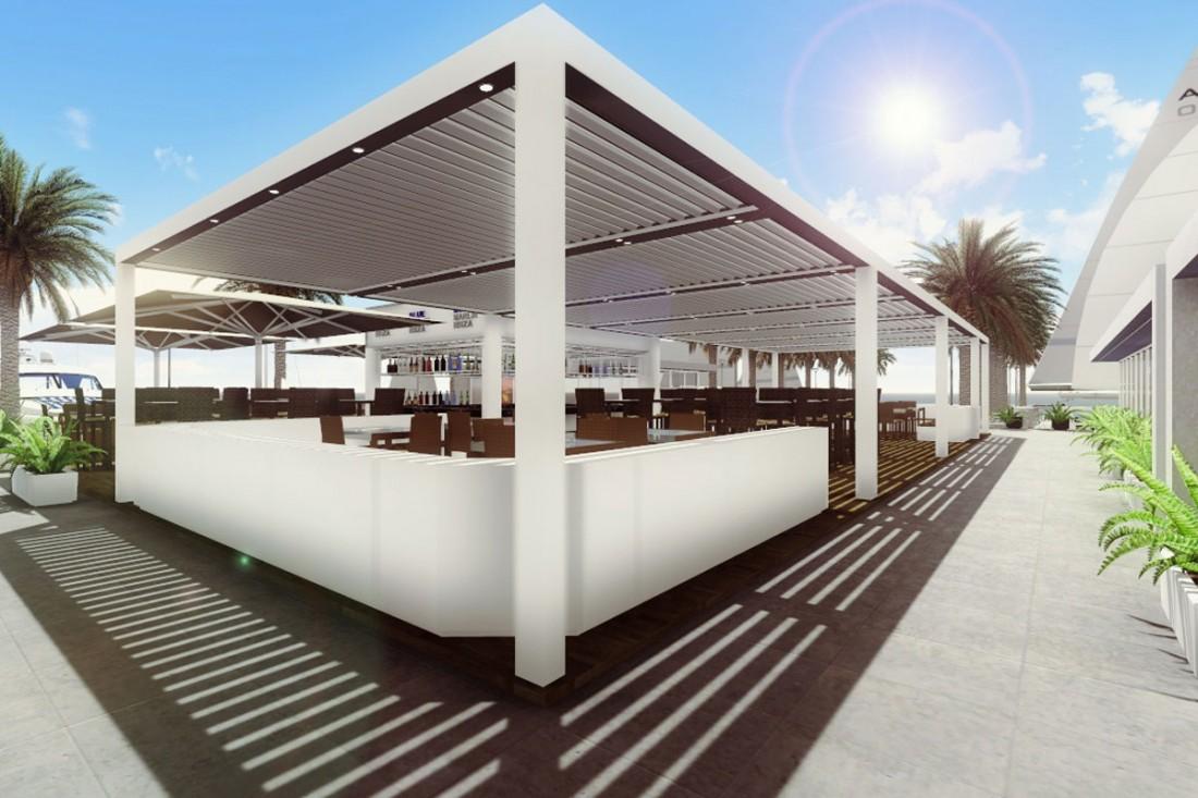 outdoor concepts marbella en outdoor concepts projects blue marlin restaurant ibiza. Black Bedroom Furniture Sets. Home Design Ideas