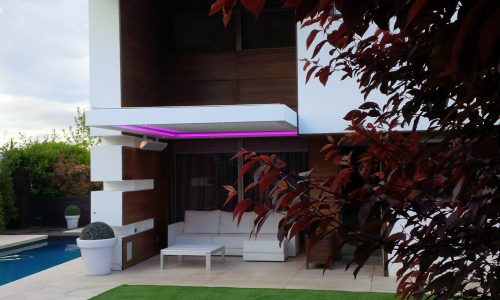Bioclimatic Patio Cover with Outdoor Heater in Costa del Sol