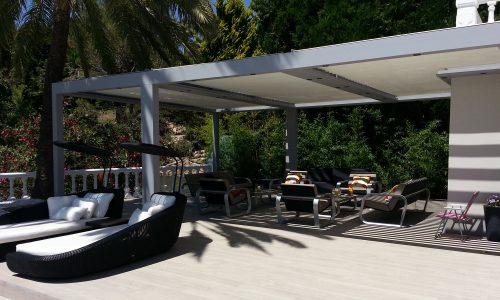 Great Patio Area with Bioclimatic Covering in Las Chapas Marbella