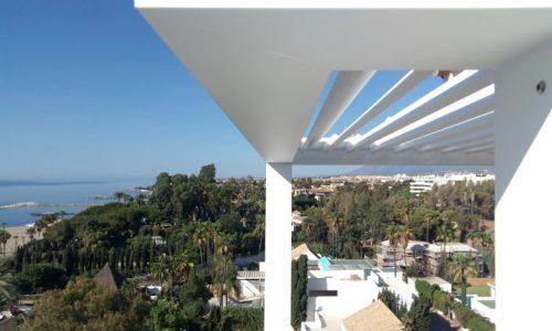 Small but Functional Bioclimatic Pergola in Puerto Banus Marbella