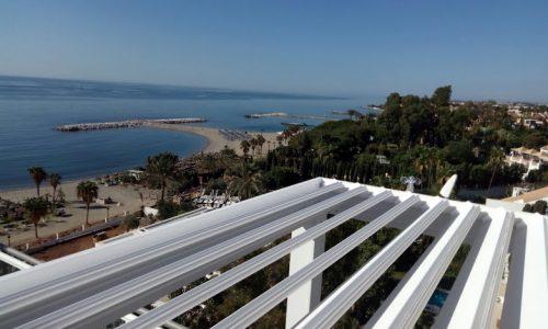 Bioclimatic Terrace Cover in Puerto Banus Marbella Costa del Sol