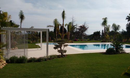 Poolside Chiringuito with Bioclimatic Cover in Marbella