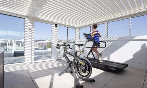 Rooftop Gym with Bioclimatic Pergola Marbella
