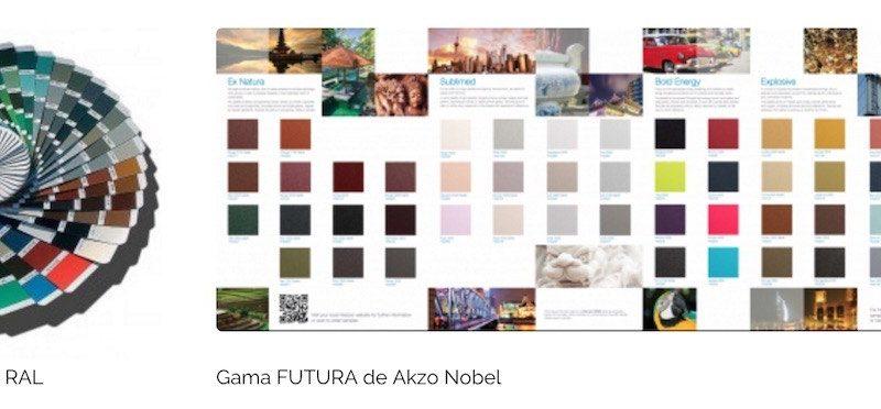 Pérgola Biossun disponible en 300 colores RAL y gama Futura Akzo Nobell