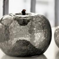 Escultura en forma de manzana de cristal Bull Stein