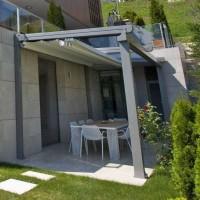 Pérgola retráctil Suntech para hogares