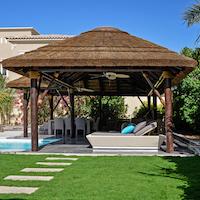 Outdoor Concepts instalación de pérgola de madera y junco