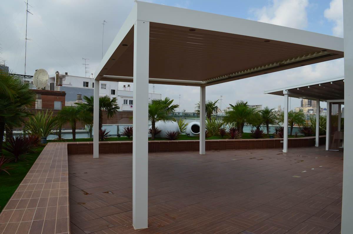 Pérgola Biossun en la terraza de El Corte Inglés de Valencia